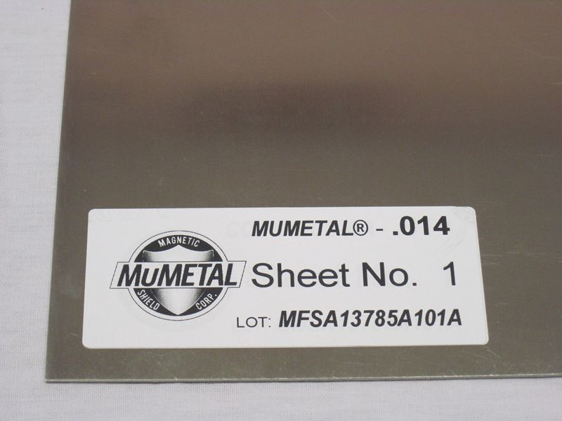 Mu METAL Stress Annealed Sheet