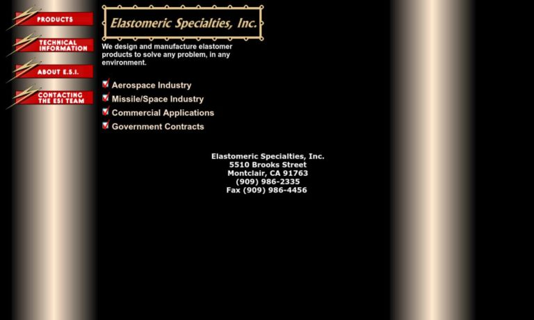 Elastomeric Specialties, Inc.